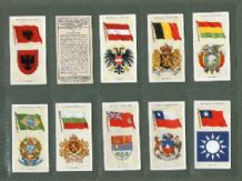 Tobacco Cigarette cards Flags & Arms 1936  China Siam Brazil Gre